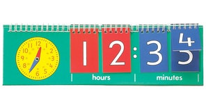 Tell Time Flip Chart, Student Size, Single