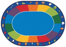 "Fun with Phonics Rug, 8'3"" x 11'8"" Oval"