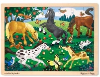 Frolicking Horses Wooden Jigsaw Puzzle