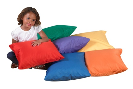 "17"" Cozy Primary Pillows, Set of 6"