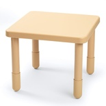 "Value Table,  28"" Square, Natural Tan"