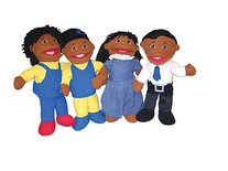 Family Puppet Set, African-American Family