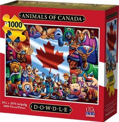 ANIMALS OF CANADA - JIGSAW PUZZLE 1000pc