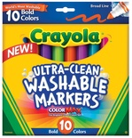 Crayola® Washable Broad-Line Markers, 10 Bold Colors