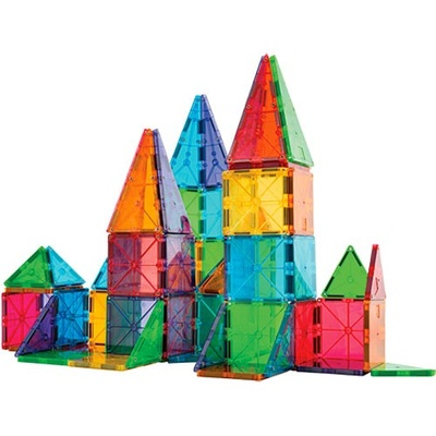 Magna-Tiles® Clear Colors, 100-piece set