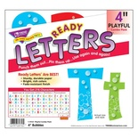 "Bubbles 4"" Playful Uppercase/Lowercase Combo Pack Ready Letters®"