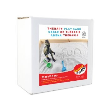 Sandtastik® Therapy Play Sand, White, 25 lbs.