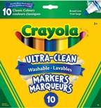 Crayola® Washable Broad-Line Markers, 10 Classic Colors