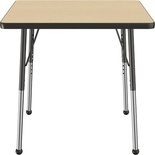 "30"" x 30"" Square T-Mold Adjustable Activity Table -Maple Top/Standard Leg"