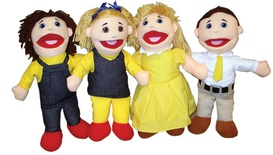 Family Puppet Set, Caucasian Family
