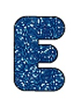 Casual Uppercase Ready Letters, Blue Sparkle, 4""