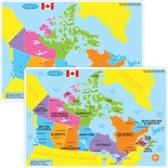 Smart Poly™ Double-Sided Learning Mat, Canada Map Basic