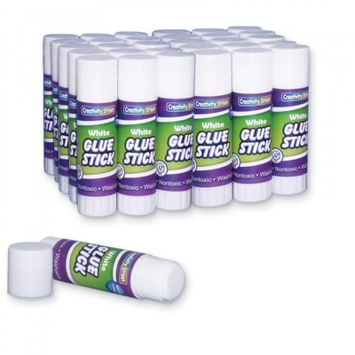 Economy Glue Stick, Clear, .28 oz., Box of 30