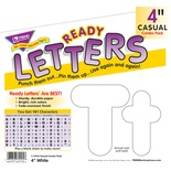 "4"" Uppercase/Lowercase Casual Solids Ready Letters® Combo Pack, Solid White"