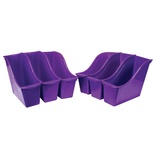 Interlocking Book Bin, Small, Purple