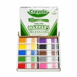 Crayola® Classpack Markers, 200 Count, Non-Washable Fine Tip, 10 Assorted Colors