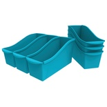 Interlocking Book Bin, Large, Teal