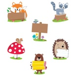 Designer Cut-Outs, Woodland Friends, 6""