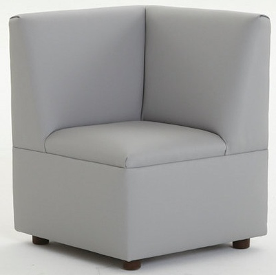 """Just Like Home"" Modern Casual Cozy Corner Chair, Enviro-Child Upholstery, Gray"