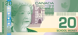 Canadian Play Bills, $20 Bills, Pack of 100