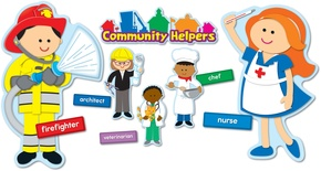 Community Helpers Bulletin Board Set