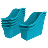 Interlocking Book Bin, Small, Teal
