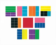 Deluxe Rainbow Fraction® Squares, Set of 51