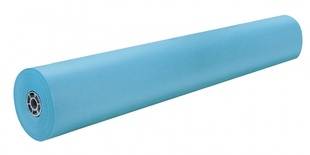 "Rainbow® Colored Kraft Roll, 36"" x 1000', Sky Blue"