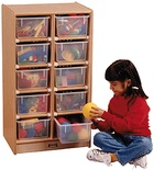 10 Tray Mobile Storage, With colored trays