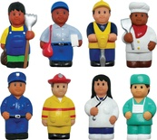 Multicultural Community Helper Figures, Set of 8
