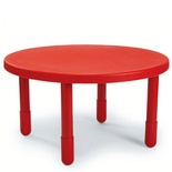 "ANGAB710PR - Value Table, Red, 36"" Round"