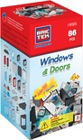 BRICTEK Building Blocks, Windows & Door Kit
