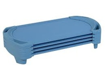 SpaceLine® Cots, Toddler Size, Wedgewood, 4-pack