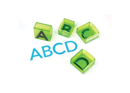 "Alphabet Transparent Stamps, Jumbo 1"" Uppercase"