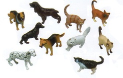 "5"" Pets Animal Playset, Set of 10"