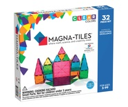 Magna-Tiles® Clear Colors, 32-piece set