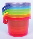 Translucent Color Bucket Set
