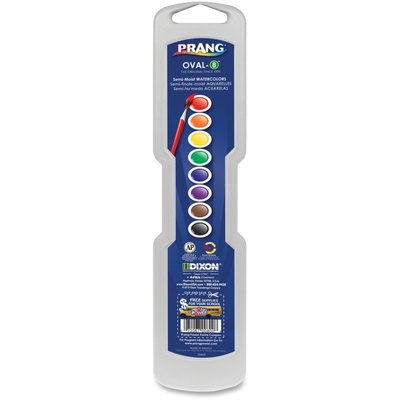 Prang® Oval Pan Watercolors, 8-Color Set With Brush