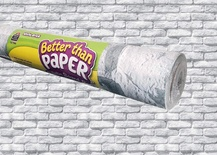 Better Than Paper® Bulletin Board Roll, White Brick