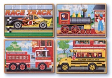 Wooden Jigsaw Puzzles in a Box, Vehicles