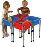Sand & Water Play Table with Lid, 4-Station