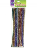 "Chenille Stems, Assorted 12"" Sparkle Stems"
