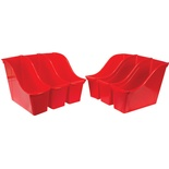 Interlocking Book Bin, Small, Red