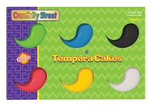 Tempera Cakes, 6 assorted colors