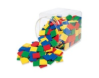 Square Tiles, Primary Colors, Set of 400