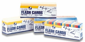 "Blank Flash Cards, Assorted, 3"" x 2"", Box of 1,000"