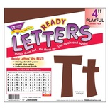 "Playful Solids 4"" Uppercase/Lowercase Ready Letters® Combo Pack, Chocolate"