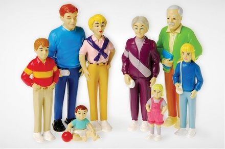 Pretend Play Families, Caucasian Family