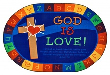 FS - 6' x 9' God is Love Learning Rug