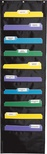Storage Pocket Chart, Black